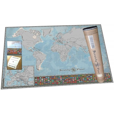 International Scratch Map